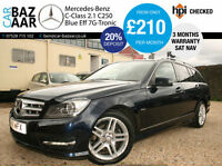 Mercedes-Benz C250 2.1TD ( 201bhp ) BlueEFFICIENCY 7G-Tronic CDI Sport+F/S/H