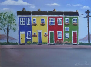 Learn how to paint Jelly Bean Houses, and Newfoundland scenes St. John's Newfoundland image 1