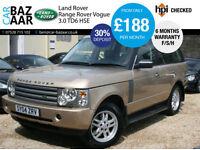 Land Rover Range Rover 3.0 Td6 auto HSE+F/S/H+JULY MOT+6 MONTH WARRANTY+2 KEYS+