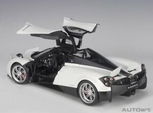 1/12 NOT 1/18 DIECAST/RESIN PAGANI HUAYRA WHITE CHROME WHEELS