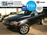 Volvo XC90 2.4 AWD Geartronic D5 SE+F/S/H+NEW CAMBELT+SAT NAV+2KEYS+FULL LEATHER
