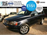 Volvo XC90 2.4 AWD Geartronic D5 SE+F/S/H+NEW CAMBELT+SAT NAV+2KEYS+FULL LEATHER