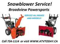 SNOW BLOWER SERVICE $49.95 PICK UP AVAILABLE!