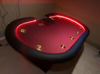Planet Gaming custom made poker tables starting at 360.00