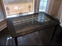 Glass Top Kitchen Table and 4 Chairs