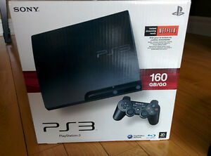PS3 SLIM 160 GB/GO + 3 CONTROLLERS + 39 GAMES !!!
