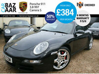 Porsche 911 3.8 997 Carrera S 2dr+F/S/H+SAT NAV+2 KEYS+SPORTS SEATS