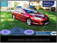 2009 (09) Peugeot 407 2.0 HDi Sport 2dr £3,595 FSH, 2 KEYS,6 MONTHS WARRANTY!