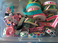 """Assorted craft ribbon - gros grain 1-1.5"""" Wide"""