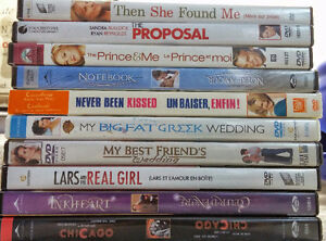 Set of 10 Movies (DVDs)