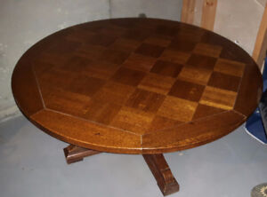 Table: Card / Coffee & Chairs (Solid Oak , Ethan Allen)