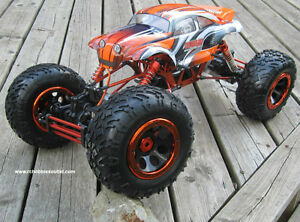RC Electric Rock Crawler Truck 1/8 Scale 4 Wheel steering, 4WD, Peterborough Peterborough Area image 3