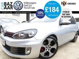 Volkswagen Golf 2.0 TSI ( 210ps ) DSG GTi+F/VW/H+7K EXTRAS+SATNAV+LEATHER+