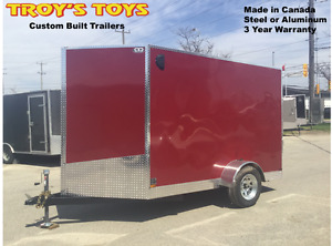 6' x 10' V-Nose Cargo Trailers •3 Year Warranty • Made in Canada