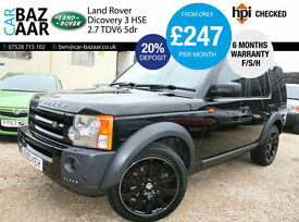 Land Rover Discovery 3 2.7TD V6 auto HSE+F/S/H+SAT NAV+6 M WARRANTY+2 KEYS