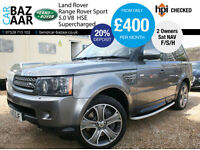 Land Rover Range Rover Sport 5.0 V8 S/C auto HSE+F/S/H+20' ALLOYS+2 OWNERS