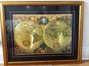 Old World Map - Replica