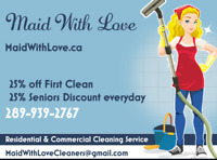 Maid With Love Residential and Commercial Cleaning Services