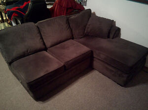 Charcoal/ Graphite Grey 3-piece Sectional Couch