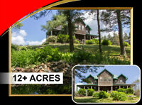 Roseneath Custom built 4 bdrm home on 12 acres w/pool & trails!