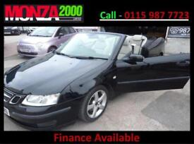 SAAB 9-3 1.9TiD 150bhp AUTOMATIC CONVERTIBLE VECTOR NIL DEPOSIT FINANCE WARRANTY