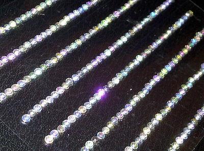 (CraftbuddyUS280 x 3mm AB Clear Self Adhesive Diamnte Rhinestone Strip Gem Craft )