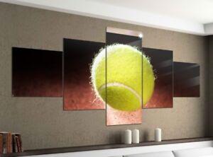 Foto-en-Lienzo-5-piezas-200x100cm-pelota-tenis-deporte-Pantalla-Imagen-9ya1144
