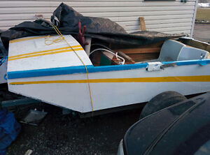 BOAT 3 HORSE POWER MOTOR AND TRAILER FOR SALE OR TRADE