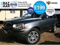 Volvo XC90 2.4 AWD Geartronic D5 SE Lux+F/S/H+NEW CAMBELT+2 OWNERS+SAT NAV+2 KEY