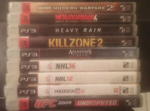 PS3 games jeux Call of Duty Metal Gear...