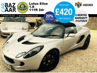 Lotus Elise 1.8 111R 2dr+F/S/H+VERY RARE CAR+6 M WARRANTY+ONLY 29K MILES