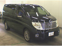 FRESH IMPORT 54 PLATE FACE LIFT NISSAN ELGRAND XL BUSINESS EDITION V6 AUTO BLACK