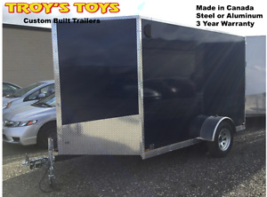 6' x 10' V-Nose Cargo Trailer with 3 Year Warranty!