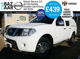 Nissan Navara 3.0dCi V6 ( EU V ) auto Outlaw+NO VAT+CAB COVER+FULLY LOADED+