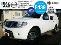 Nissan Navara 3.0dCi V6 ( EU V ) auto Outlaw+NO VAT+CAB COVER+FULLY LOADED+