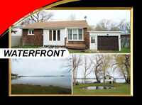 Waterfront updated 3+1 bdrm home w/2 bdrm Bunkie on Rice Lake!
