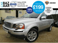 Volvo XC90 2.4 AWD Geartronic D5 SE+1 OWNER+F/S/H+4 NEW TYRES+SAT NAV