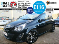 Vauxhall Corsa 1.4 i 16v Black Edition 3dr (start/stop, a/c)+F/S/H+LOW MILEAGE+