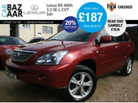 Lexus RX 400h 3.3 CVT SE-L+2 OWNERS+NEW CAMBELT+REAR DVD
