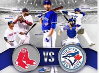 Billet baseball RED SOX vs BLUE JAYS