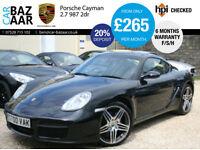 Porsche Cayman 2.7+F/PS/H+6 M WARRANTY+JUNE 17 MOT+2 KEYS+