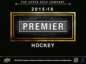 2015-16 Upper Deck Premier Hockey Hobby Trading Cards Box Kitchener / Waterloo Kitchener Area image 2