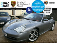 Porsche 911 3.6 Carrera 2+F/S/H+SAT NAV+CARRERA AEROKIT+