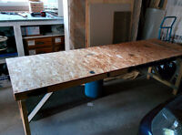 8 ft. hand made folding tables