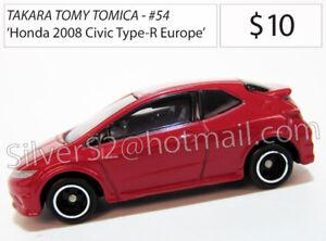 Takara Tomy Tomica #54 Diecast: 'Honda 2008 Civic Type-R Euro'