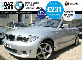 BMW 118 2.0TD d Exclusive Edition+ONLY 22K MILES+F/BMW/H+2 KEYS+