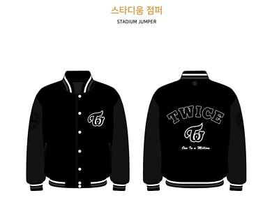 TWICE FANMEETING ONCE HALLOWEEN OFFICIAL GOODS Stadium Jumper M SIZE SEALED - Halloween Goods