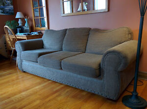 older full  size brown couch