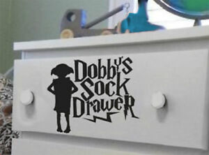 HARRY POTTER DOBBYS SOCK DRAWER 15 CM HOME CAR DECAL STICKER FUNNY  HIGH QUALITY