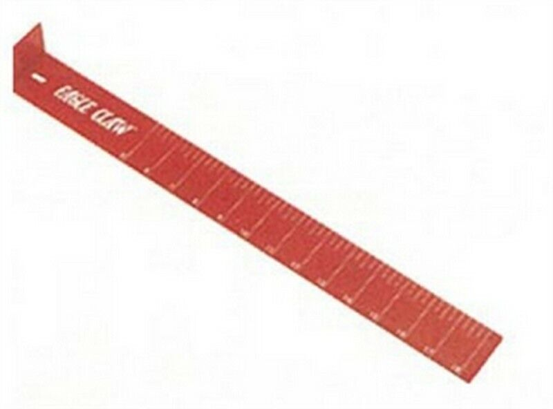"""Eagle Claw AECMB Measuring Board Red 18"""" Fishing Equipment"""
